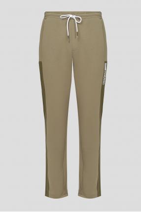 Чоловічі оливкові спортивні брюки
