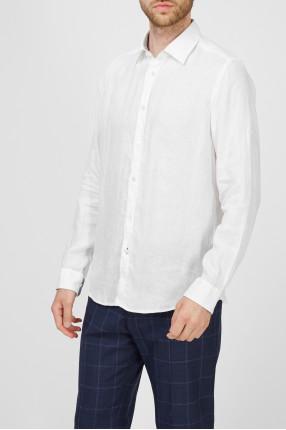 Чоловіча біла лляна сорочка 1