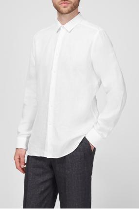Мужская белая льняная рубашка 1