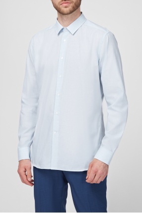 Чоловіча блакитна сорочка 1