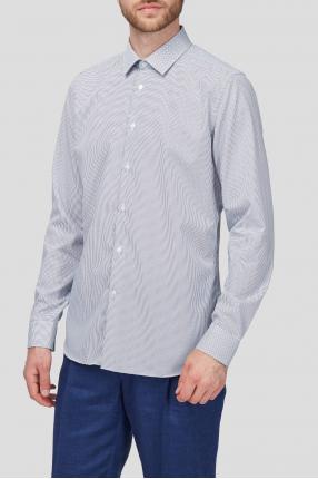 Чоловіча біла сорочка в горошок 1
