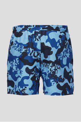 Мужские синие павательные шорты 1