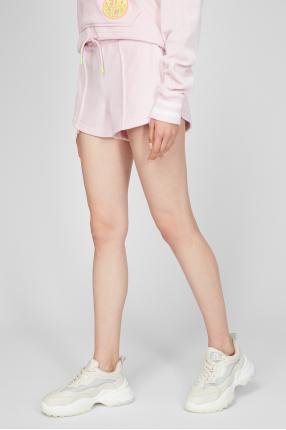 Жіночі рожеві велюрові шорти 1