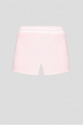 Жіночі рожеві велюрові шорти