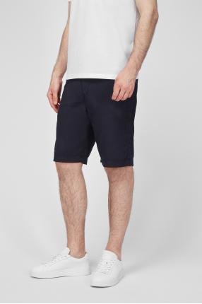 Чоловічі темно-сині лляні шорти 1