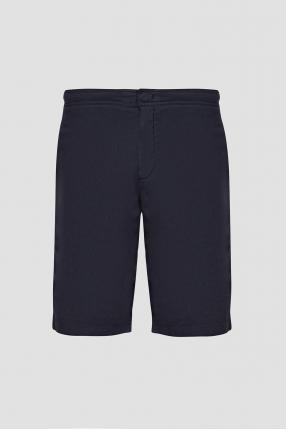 Чоловічі темно-сині лляні шорти