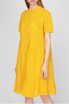 Женское желтое платье 1