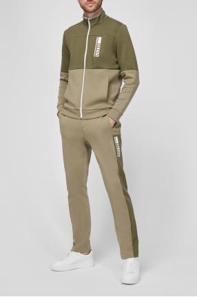 Чоловічий зелений костюм (спортивна кофта, брюки) 1