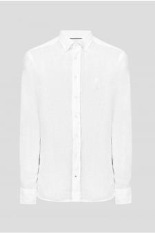 Чоловіча біла лляна сорочка