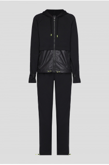 Женский черный костюм (кофта, спортивные брюки)