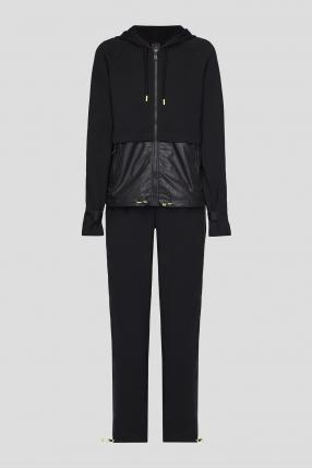 Жіночий чорний костюм (кофта, спортивні штани)