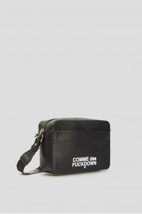 Женская черная сумка через плечо 1