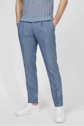 Чоловічі сині лляні брюки 1