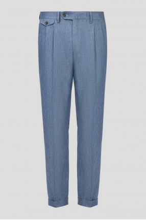 Чоловічі сині лляні брюки