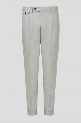 Чоловічі сірі лляні брюки