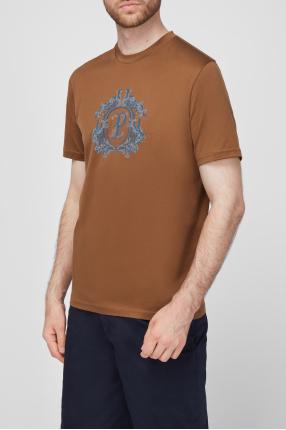 Мужская коричневая футболка 1