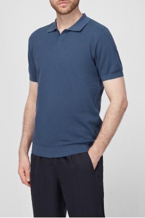 Мужское синее поло 1