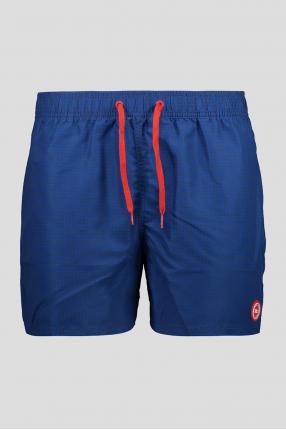 Мужские синие плавательные шорты с узором