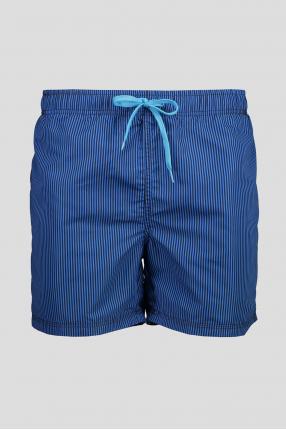 Мужские синие плавательные шорты в полоску