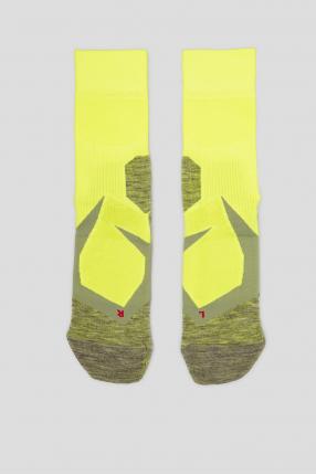 Мужские желтые носки для бега
