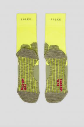Мужские желтые носки для бега 1