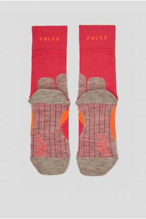 Женские малиновые носки для бега 1