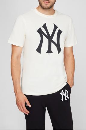 Мужская бежевая футболка 1