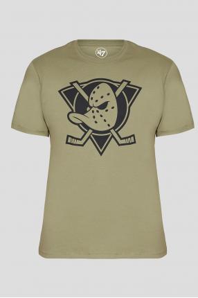 Мужская оливковая футболка