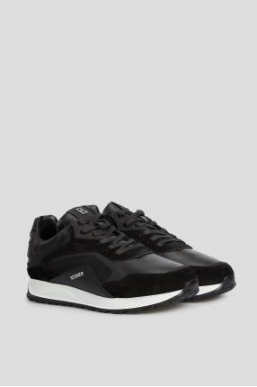 Чоловічі чорні шкіряні кросівки 1