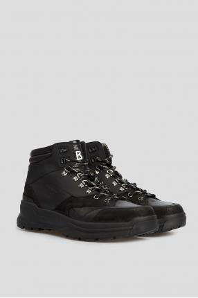 Чоловічі чорні шкіряні черевики 1