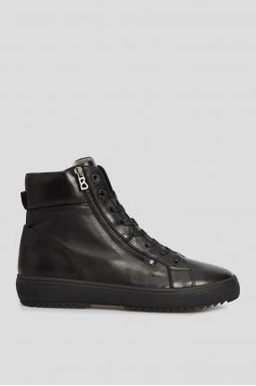 Чоловічі чорні шкіряні черевики