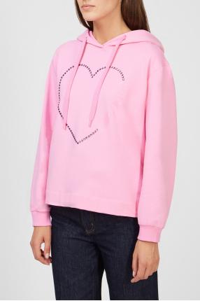 Женское розовое худи 1