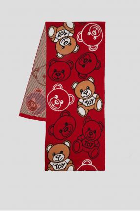 Женский красный шарф
