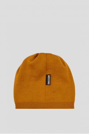 Жіноча гірчична вовняна шапка 1