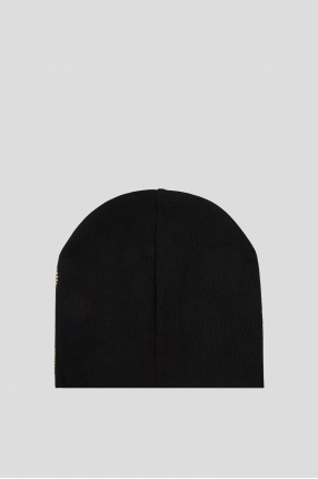 Женская черная шерстяная шапка 1