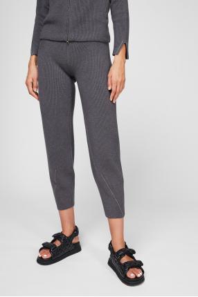 Жіночі сірі вовняні брюки 1