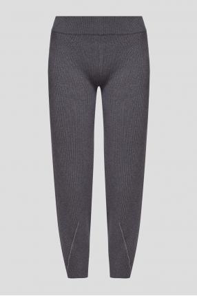 Жіночі сірі вовняні брюки