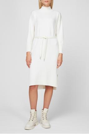 Жіноча біла вовняна сукня 1