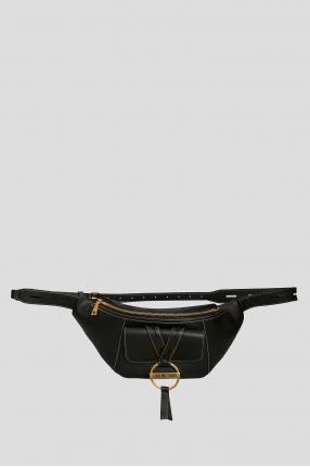 Жіноча чорна поясна сумка