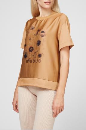 Женская горчичная футболка 1
