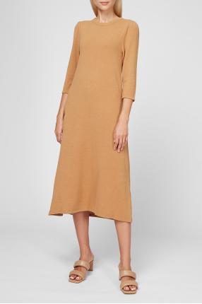 Жіноча гірчична сукня 1