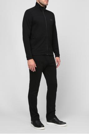 Мужской черный спортивный костюм (кофта, брюки) 1