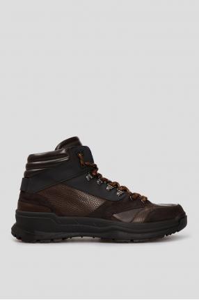 Чоловічі коричневі шкіряні черевики LILLEHAMMER 4