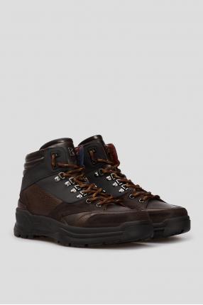 Чоловічі коричневі шкіряні черевики LILLEHAMMER 4 1