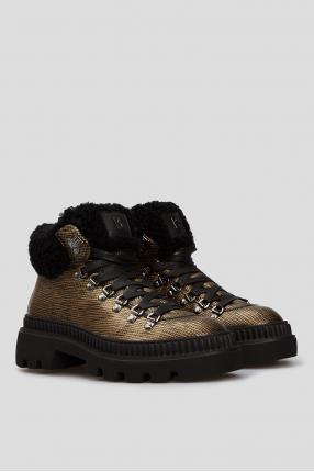 Жіночі золотисті шкіряні черевики St. Petersburg 1