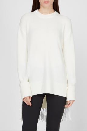 Женский белый свитер 1