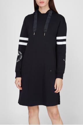 Жіноча темно-синя сукня 1