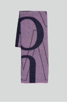 Женский сиреневый шерстяной шарф