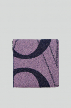 Женский сиреневый шерстяной шарф 1