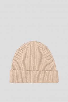 Женская бежевая шапка 1